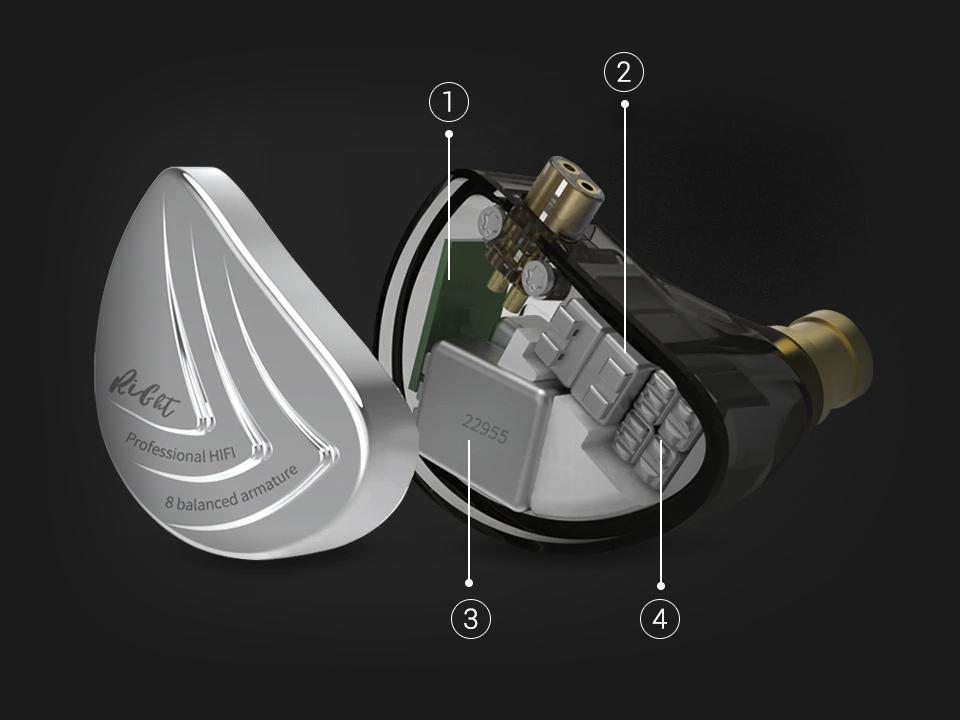 KZ AS16 Balanced Armature Earphones