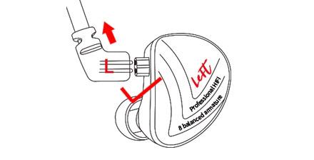 KZ Earphones Wire Pluggin Schematic