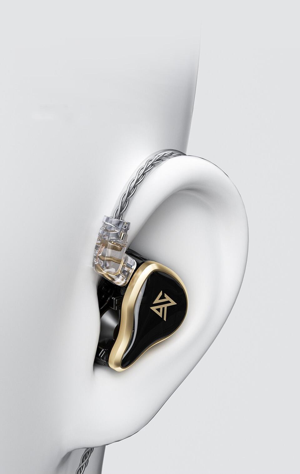 KZ ZAS in the ear
