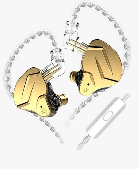 KZ ZSN PRO X Earphones Gold With Mic