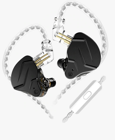 KZ ZSN PRO X Earphones Black With Mic